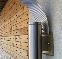 Outdoor Lighting and Wood detail