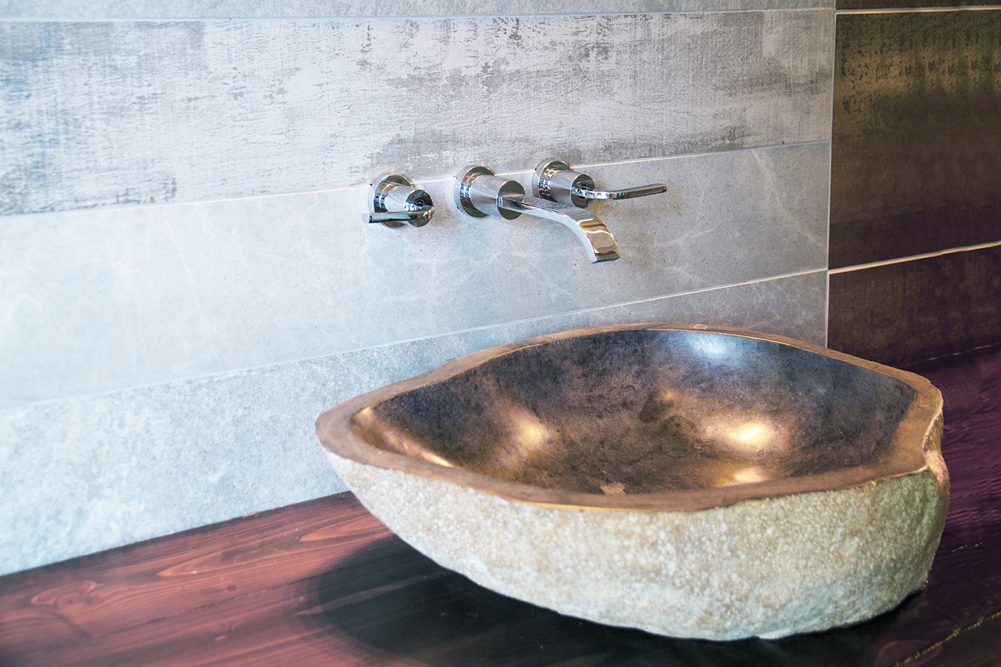 Stone Sink/ Faucet