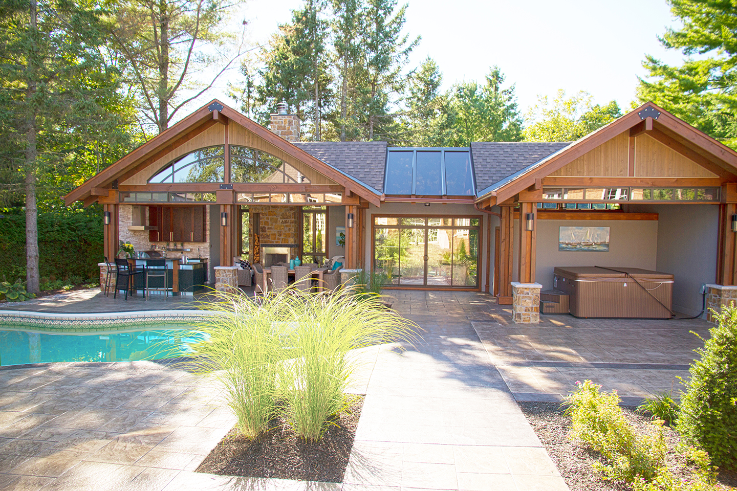 Pool House Front