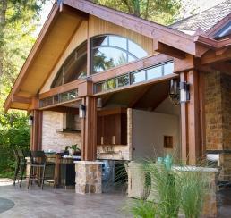 Pool House Angle View