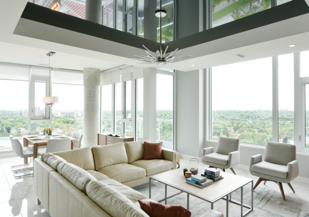 Landsdowne Penthouse Living Room
