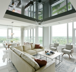 Lansdowne Rideau Terrace Penthouse_Living room_kitchen_dining
