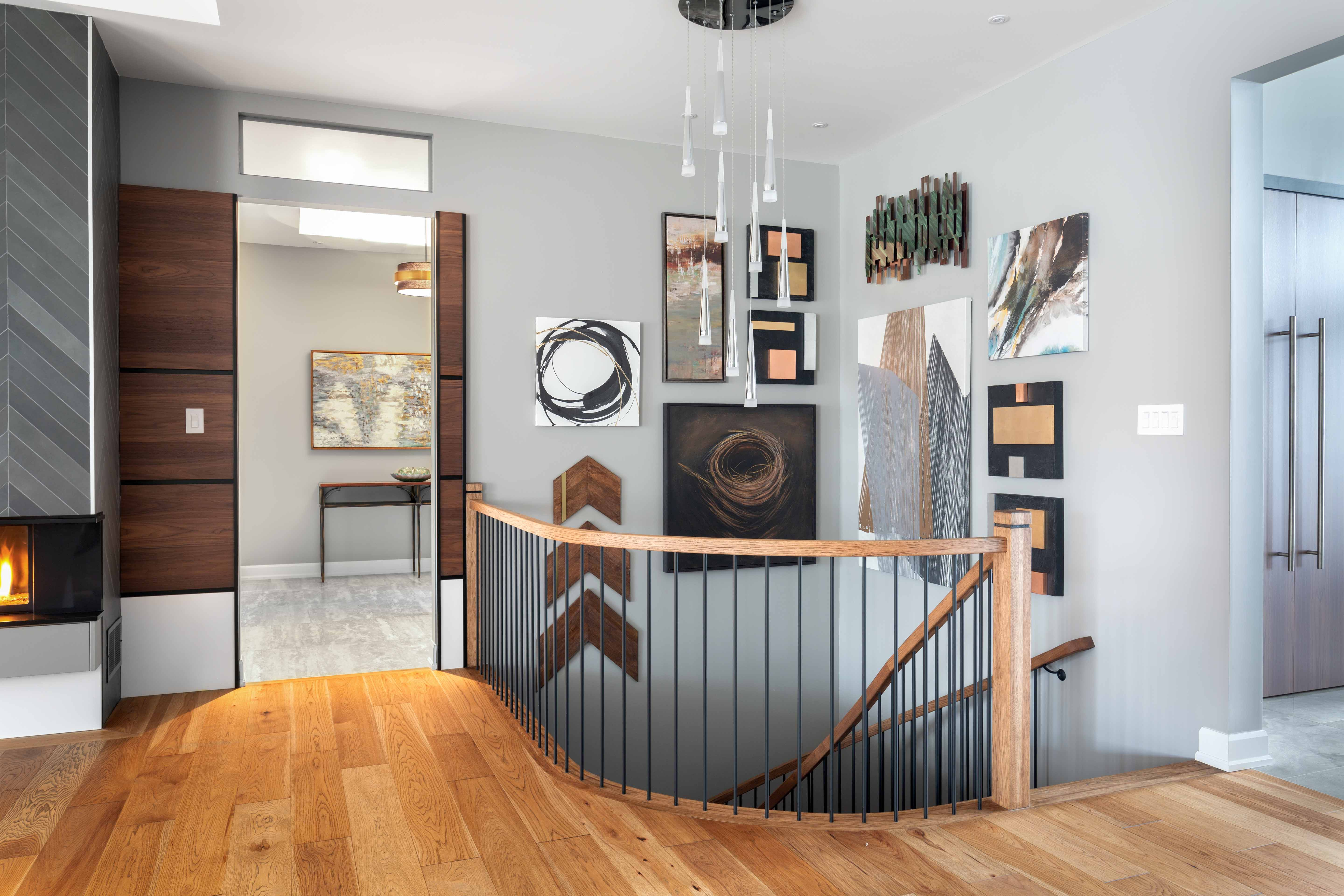 Staircase art wall