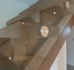 Stair Glass Railing Detail